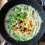Grünes Curry mit Kürbis und Auberginen | Madame Cuisine Rezept