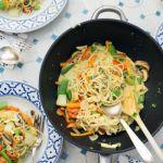Curry Nudeln mit Gemüse & Krabben | Madame Cuisine Rezept