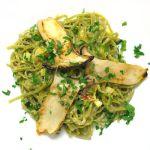 Grüne Bandnudeln mit Kräuterseitlingen | Madame Cuisine Rezept