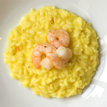 Safran-Risotto mit gebratenen Garnelen | Madame Cuisine Rezept