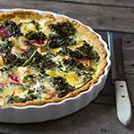 Grünkohl-Quiche mit Rote Bete und Kürbis | Madame Cuisine Rezept