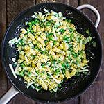 Frühlings-Pasta mit grünem Gemüse | Madame Cuisine Rezept