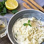 Zitronen-Risotto mit Minze und Schlagsahne | Madame Cuisine Rezept