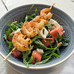 Wassermelonen-Salat mit Rucola & Garnelen | Madame Cuisine Rezept